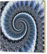 Blue Escheresque Wood Print