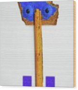 Blue Eyed Sailor Wood Print