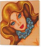 Blue Eyes 3 Wood Print