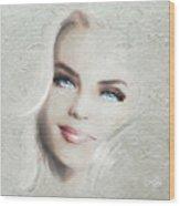 Blue Eyes Blond  Wood Print