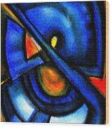 Blue Fans - Pastels Wood Print