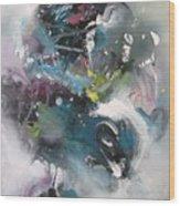 Blue Fever15 Wood Print