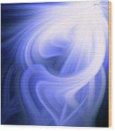 Blue Fiber 0610 Wood Print
