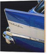 Blue Fins Wood Print