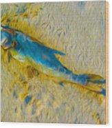 Blue Fish Wood Print