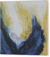 Blue Flame II Wood Print