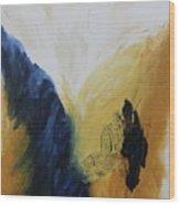 Blue Flame Iv Wood Print