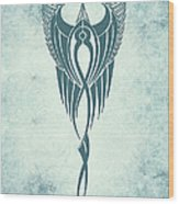 Blue Flight Contemporary Minimalism Wood Print