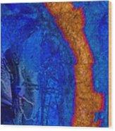 Blue Force Wood Print