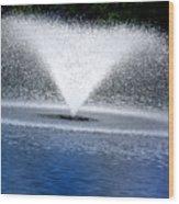 Blue Fountain Wood Print