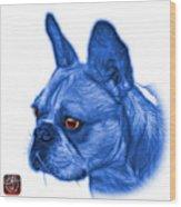 Blue French Bulldog Pop Art - 0755 Wb Wood Print