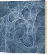 Blue Fugue Wood Print