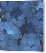 Blue Fungi Wood Print