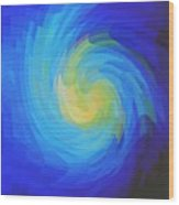 Blue Galaxy Wood Print