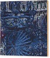 Blue Gate Barcelona Wood Print