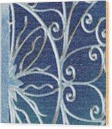 Blue Gate Mosaic Wood Print