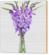 Blue  Gladiolus Wood Print