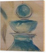 Blue Glass Wood Print by Gregory Dallum