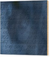 Blue Glimpse Wood Print