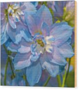 Blue Glory Wood Print