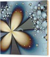 Blue Gold 4 Wood Print