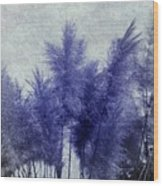 Blue Grass Wood Print
