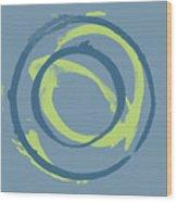 Blue Green 1 Wood Print