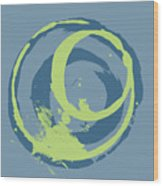 Blue Green 2 Wood Print