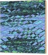 Blue Green Ocean Abstract Wood Print