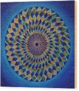 Blue Green Planet Wood Print