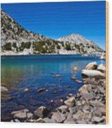 Blue Green Treasure Lake Wood Print