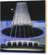 Blue Guitar 14 Wood Print