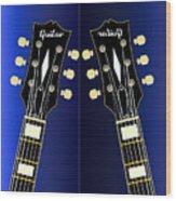 Blue Guitar Reflections Wood Print