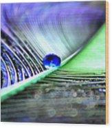 Blue Gypsy Wood Print