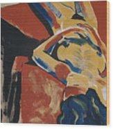 Blue Hair Wood Print