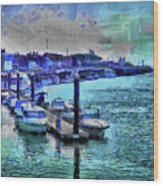 Blue Harbour Wood Print