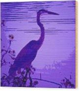 Blue Heron... Wood Print