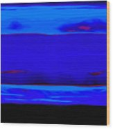 Blue Horizon Wood Print