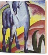Blue Horse I 1911 Wood Print