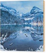 Blue Hour At Lake O'hara Wood Print
