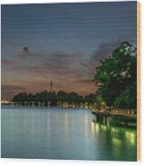 Blue Hour Harbourfront Singapore Wood Print