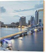 Blue Hour In Jacksonville Wood Print