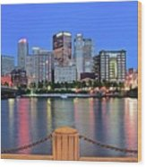 Blue Hour In The Steel City Wood Print