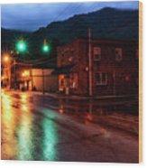Blue Hour In Webster Springs Wood Print