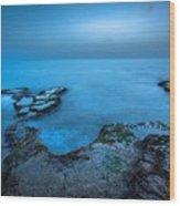 Blue Hour Sunset Wood Print