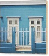 Blue Curacao House Wood Print