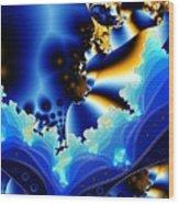 Blue Hue Wood Print