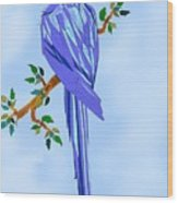 Blue Hyacinth Wood Print