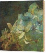 Blue Hydrangea Sunset Impression 1203 Idp_2 Wood Print