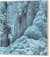 Blue Ice Flows At Tangle Falls Wood Print